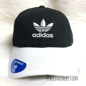 adidas Black And White Relaxed Strapback Dad Hat